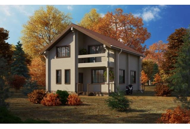 Проект 8-112-б: Дом из бруса 8×10