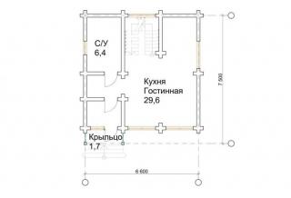 Проект 8-85-б: Дом из бруса 7×6