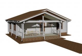 Проект 8-85/2-б: Дом из бруса 11×11
