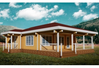 Проект 8-114-б: Дом из бруса 14×10